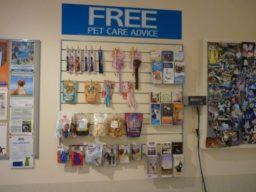 Free Pet Care Advice board at Pet Doctor