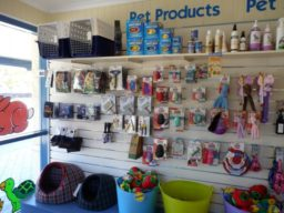 Pet products on display at Pet Doctor