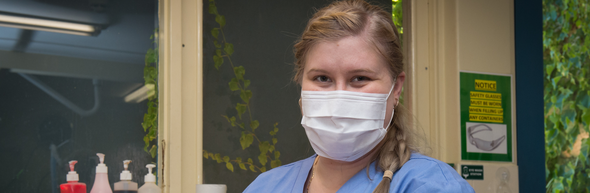 nurse wearing surgical mask in adelaide