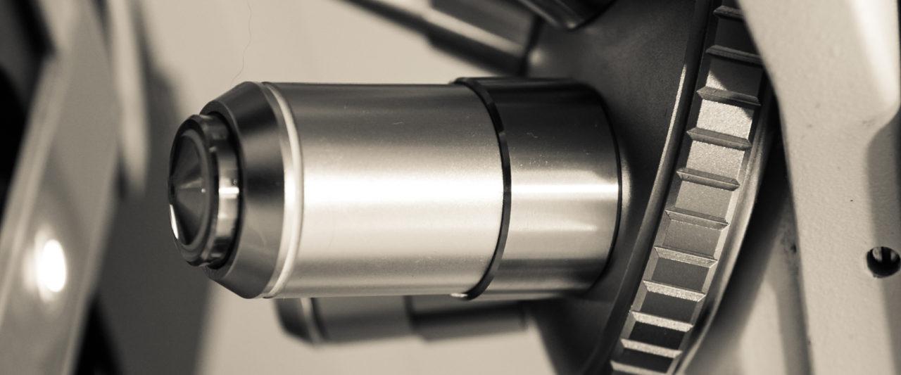microscope at vet clinic